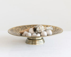Decorative Metal Pedestal Dish