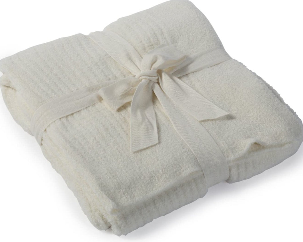 Barefoot Dreams CozyChic Lite Throw, Pearl