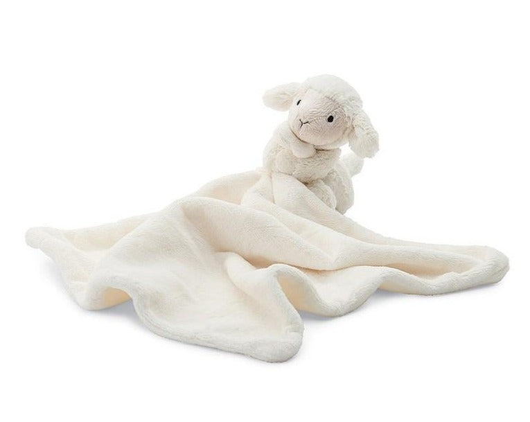 Rolled up tight and presented with a ribbon round it, Bashful Lamb Soother is the perfect gift for any newborn arrival.