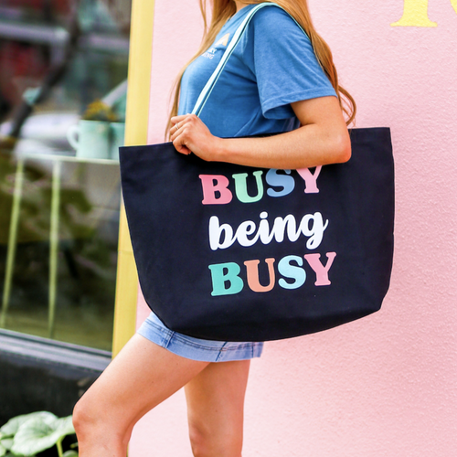 Busy Being Busy Oversized Tote Bag