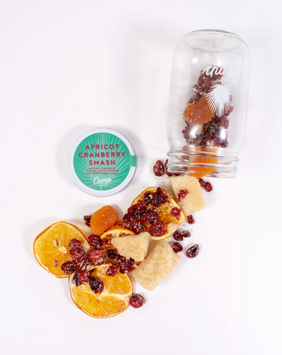 Copy of Camp Cocktails - Apricot Cranberry Smash with dried fruits and spices