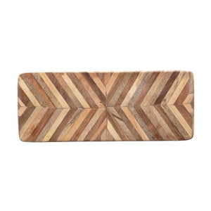 Chevron Patterned Mango Wood Cutting Board
