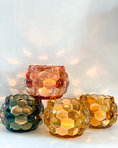 Pressed Glass Votive Holder