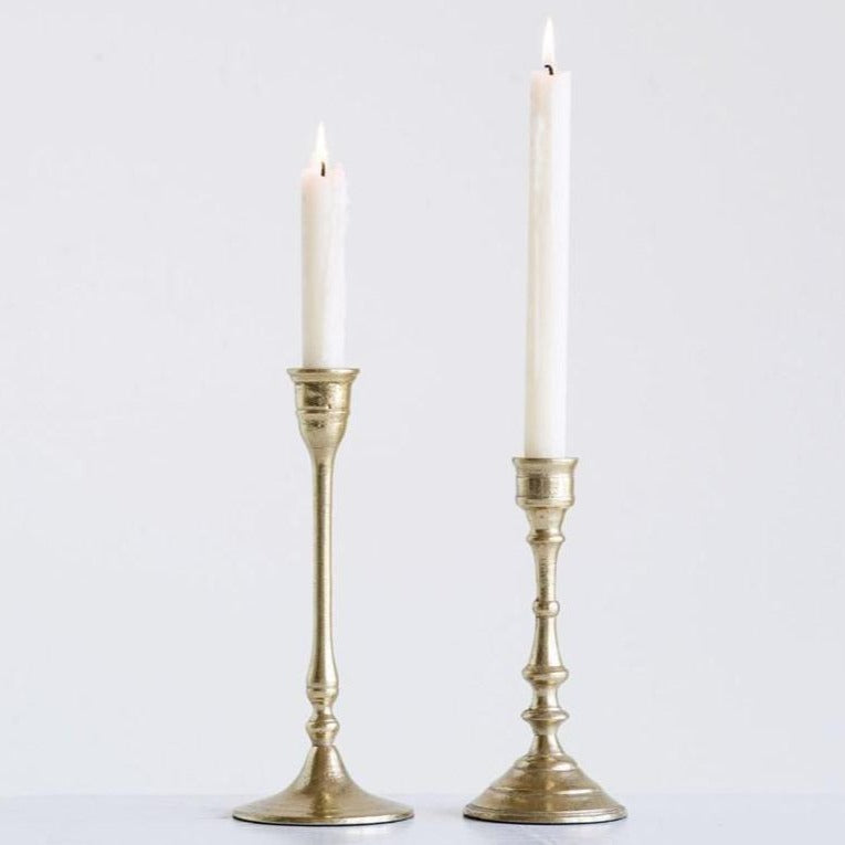 Brass Finished Taper Candle Holder