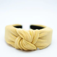 Load image into Gallery viewer, Lemon Grosgrain Top Knot Headband