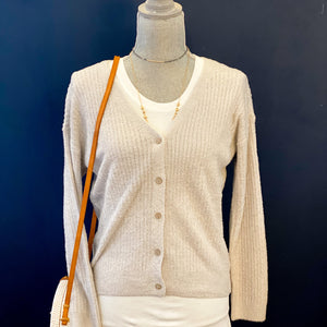 Oyster Cozy Chic Lite V-Neck Barefoot Dreams Cardigan