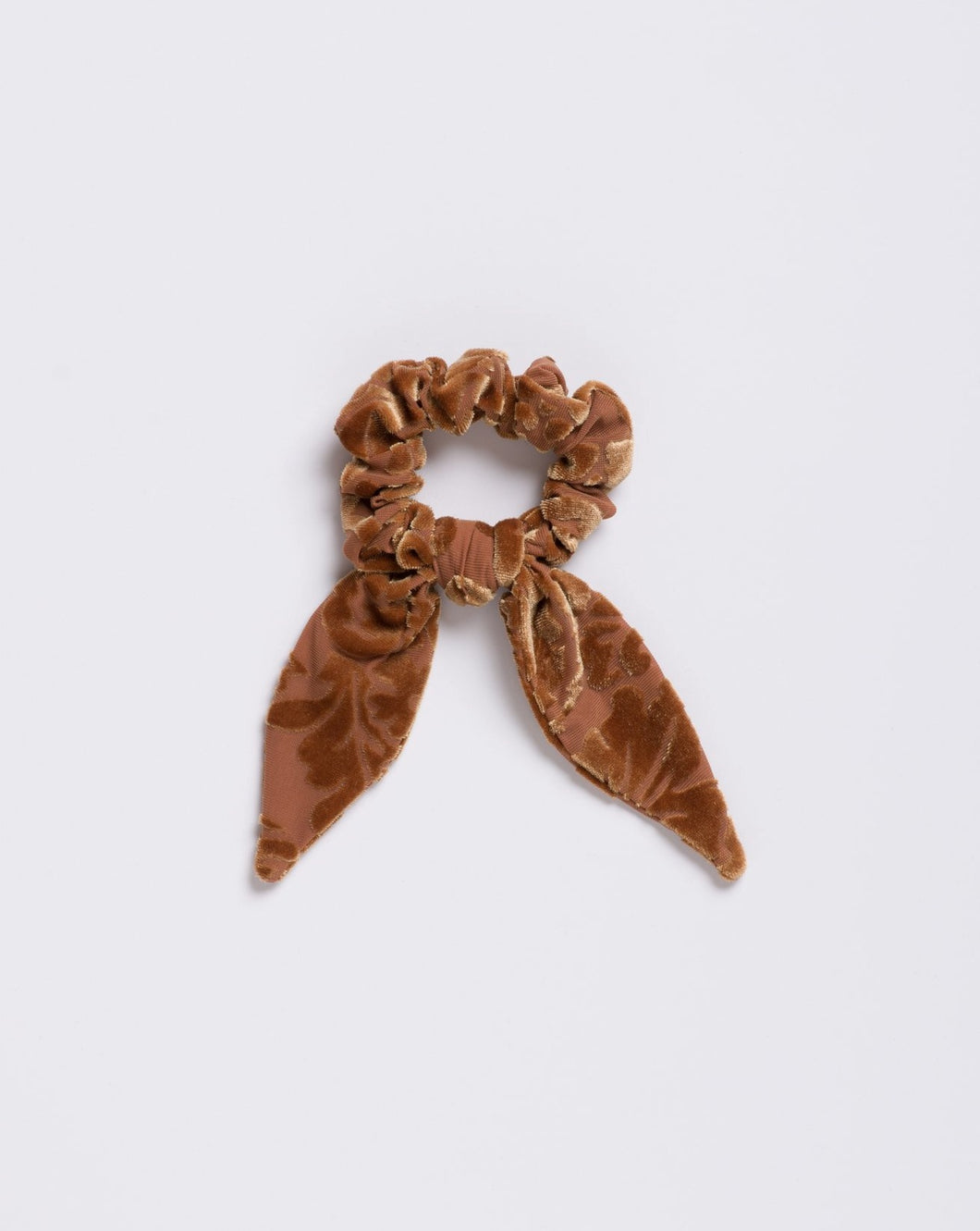 The Hendrix Gold Velvet Scrunchie Tie