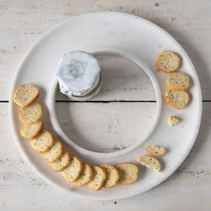 Circular Marble Cheese + Cracker Tray