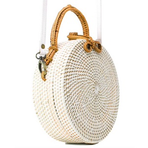 White Milly Rattan Bag