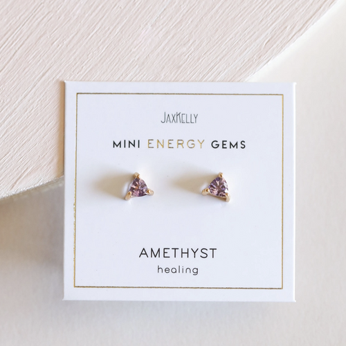 Mini Amethyst Energy Studs