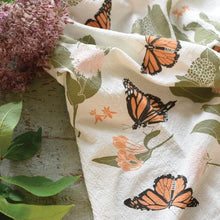 Load image into Gallery viewer, Monarchs + Milkweed Towel