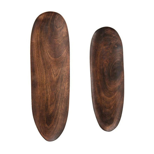 Oval Mango Wood Trays in two sizes