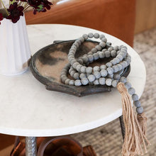 Load image into Gallery viewer, Grey Beaded Garland with Tassels