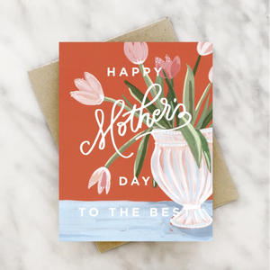 Tulip Vase Mother's Day Card