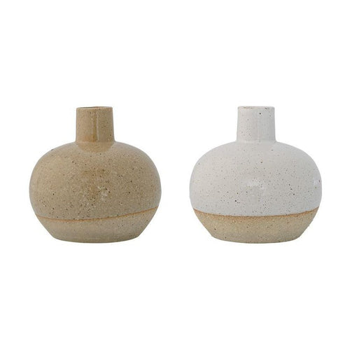 Two Toned Vase with Sand Finish in Two Colors