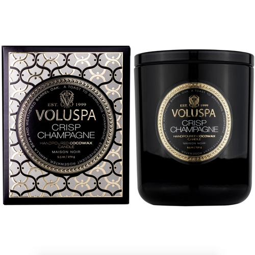 Voluspa Crisp Champagne Candle in Classic Size with Gift Box