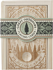 Great Outdoors Playing Cards in Wooden Box