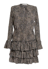 Mini-Kleid Leoprint