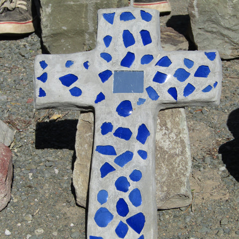 Cement/Glass Wall Cross