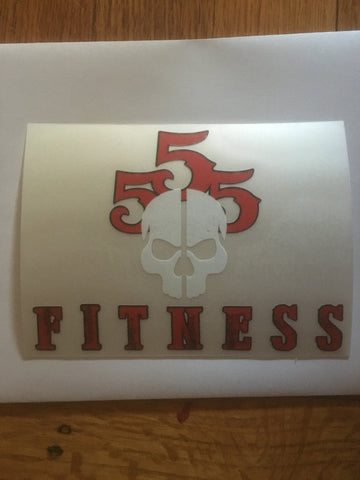 4x6 Skull Fitness Sticker