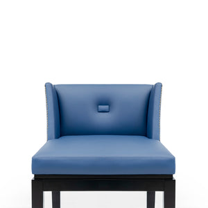 Lincoln Blue Bar Stool