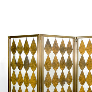 Foglia Bronze Leather Screen