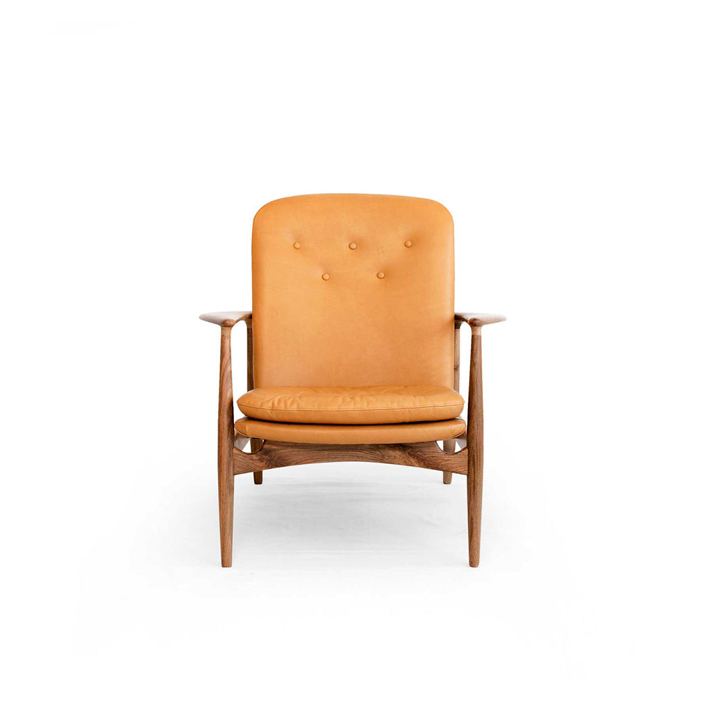 Margaret Tan Leather Armchair