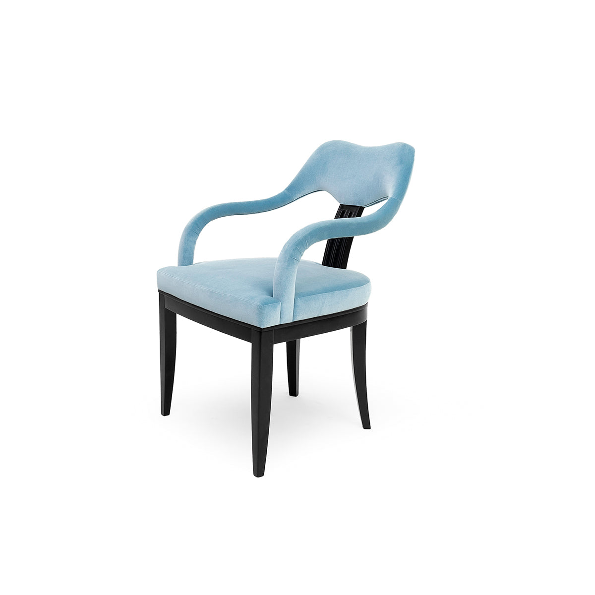 Matilde Blue Velvet Chair
