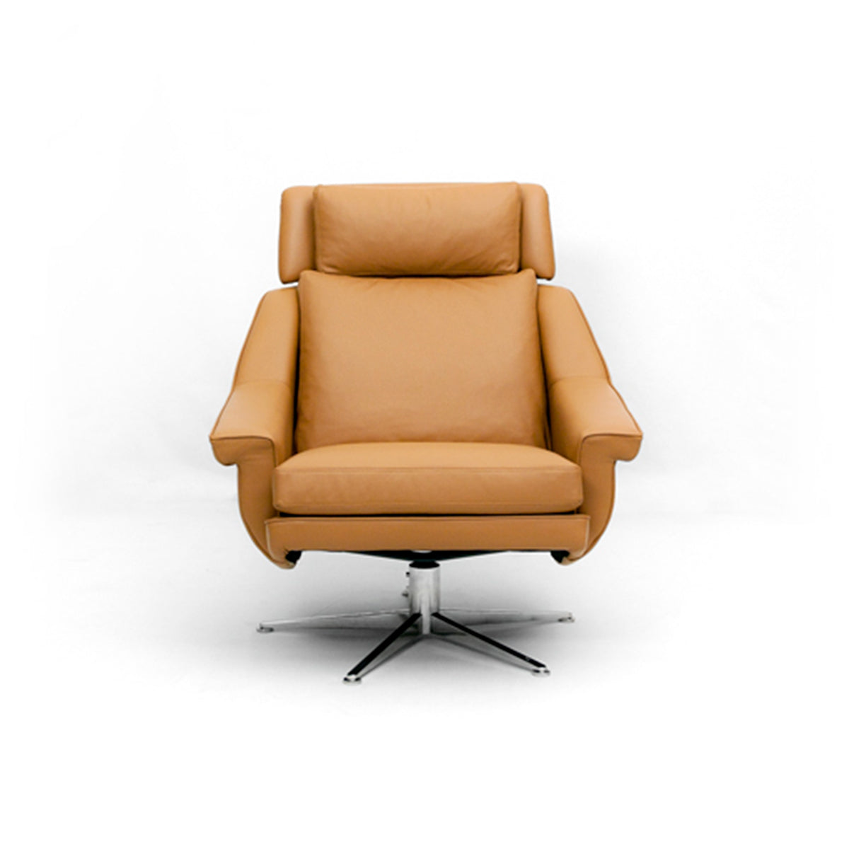 Max Tan Leather Armchair