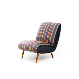 Nude Striped Armchair