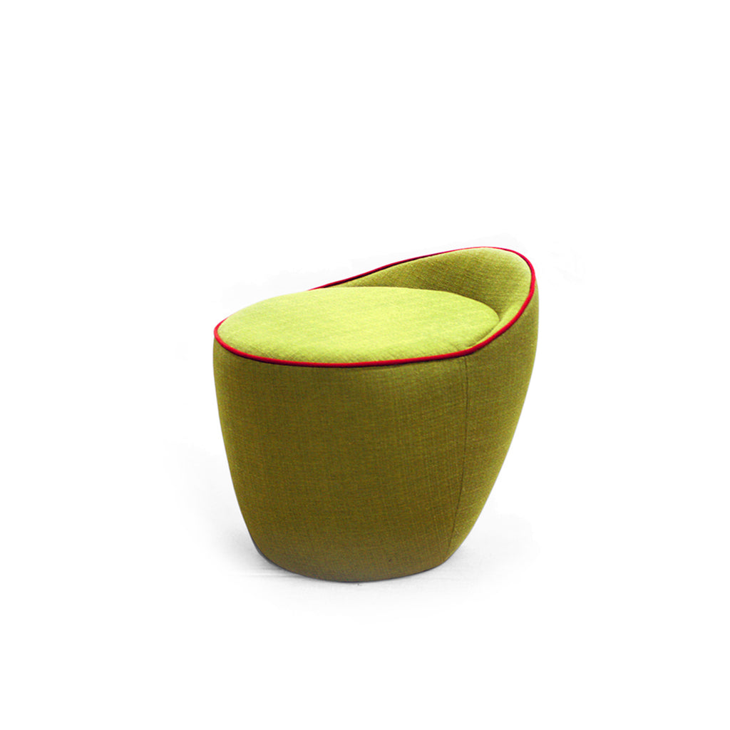 Piff Green Soft Back Stool