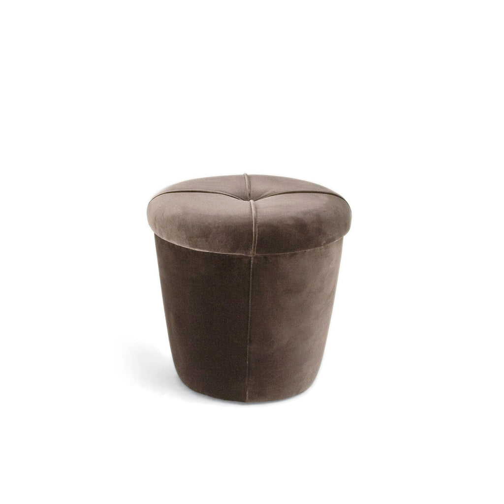 Pot Upholstered Brown Stool