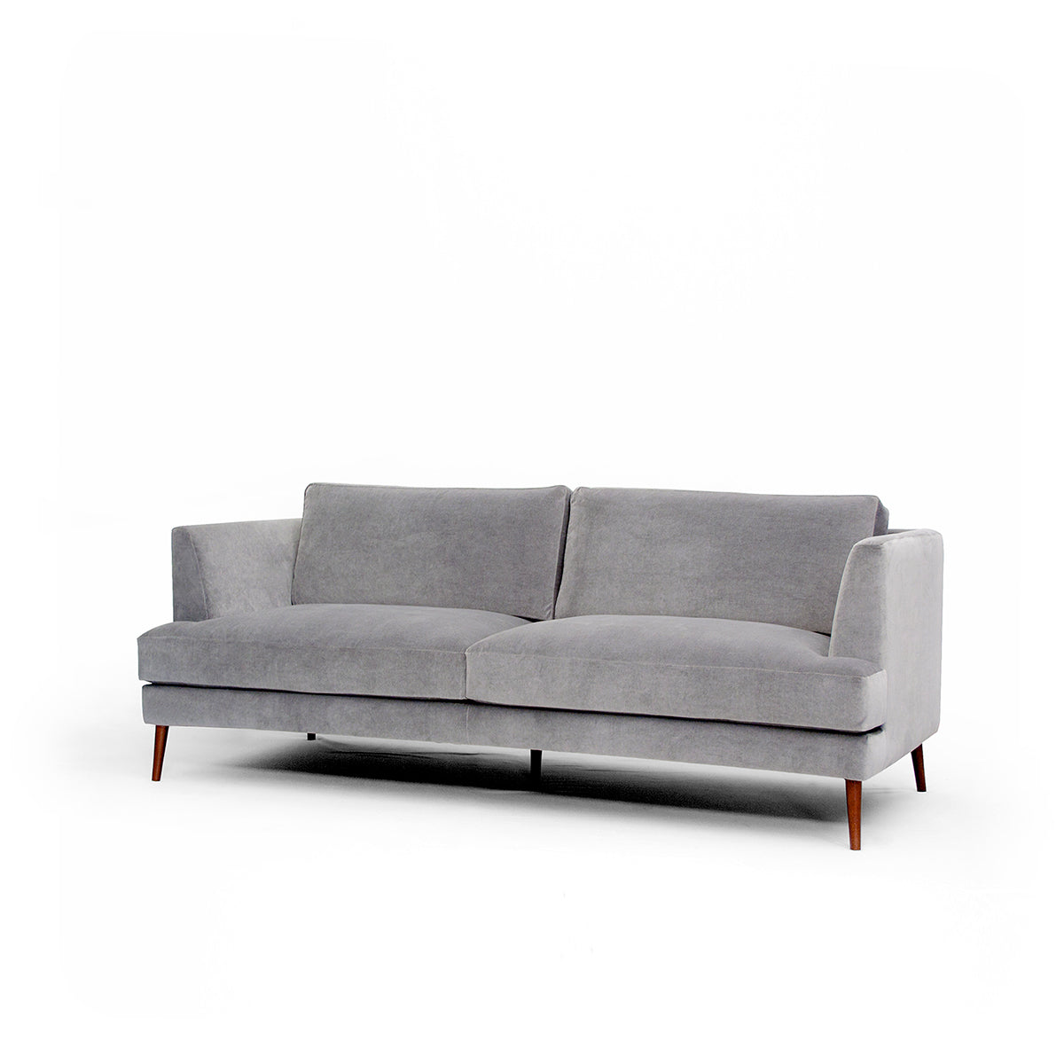 Ribas Grey Velvet Sofa