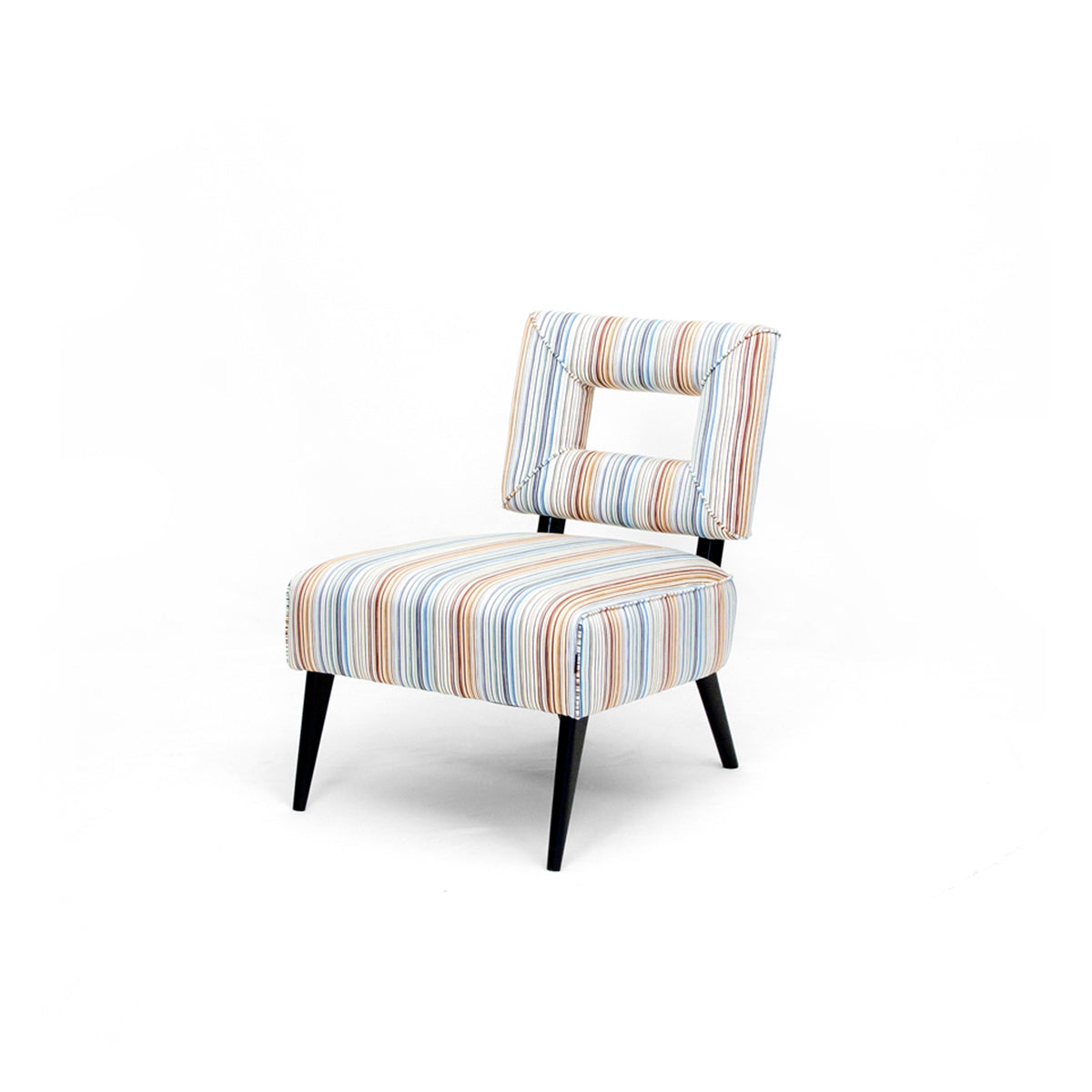 Smith Striped Statement Armchair