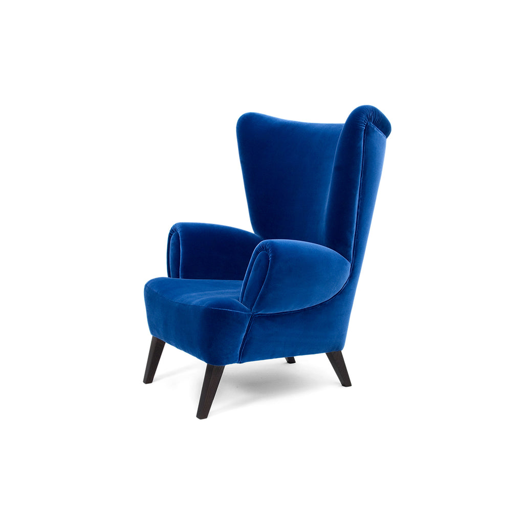 Tommy High Back Velvet Armchair