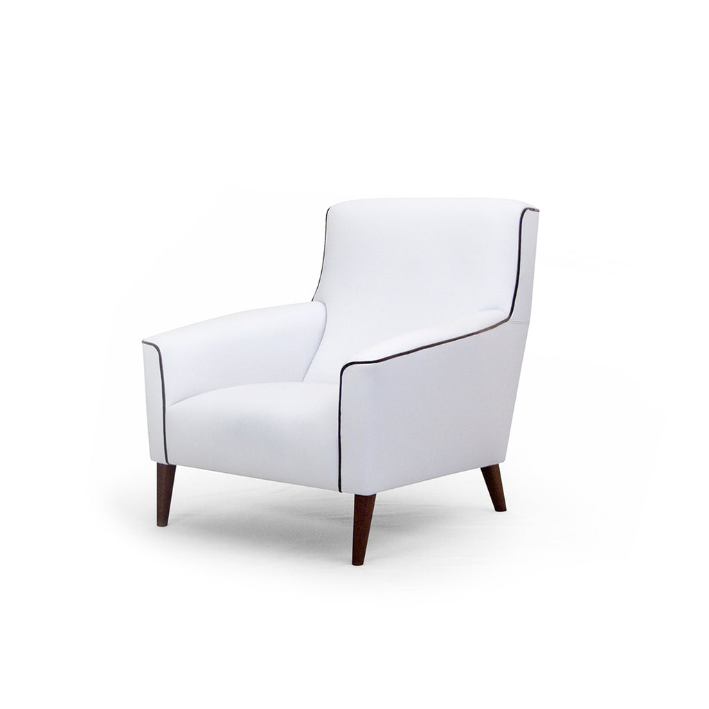 Vendetta White Leather Armchair
