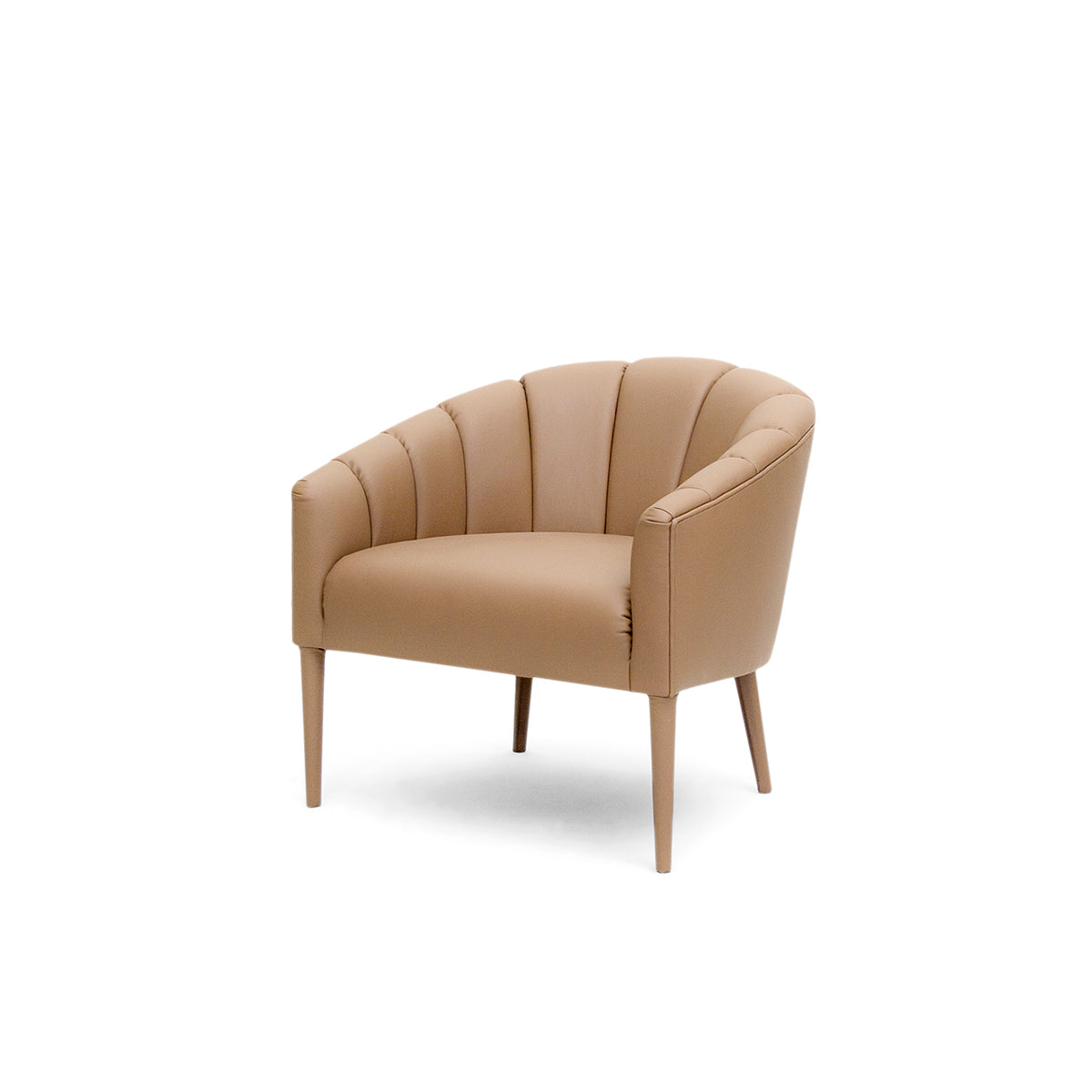 Walter Tan Leather Armchair