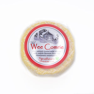 Mild and mellow, cow's milk cheese handmade in Perthshire, Scotland