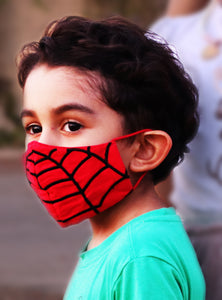 Spider Embroidery Kids Face Mask