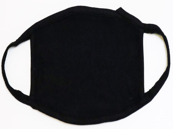 Black Fabric Face Mask, Pack of 3 Pcs