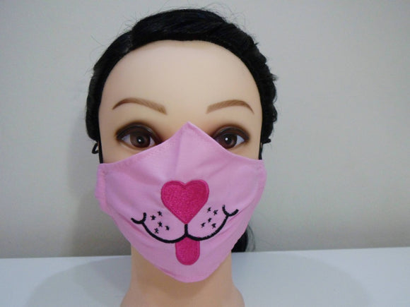 Pink Panther Embroidered Kids Facemask