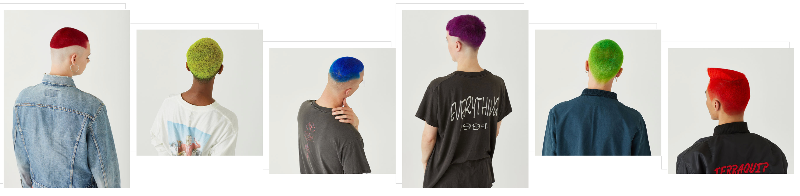 staino models with bright colourful hair