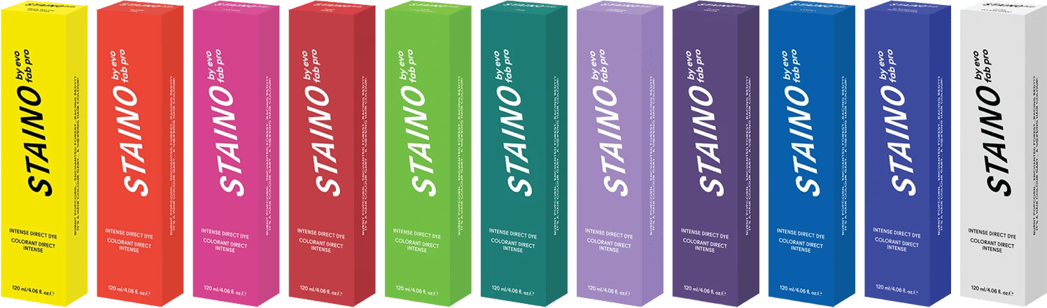 staino products in differemt colour boxes