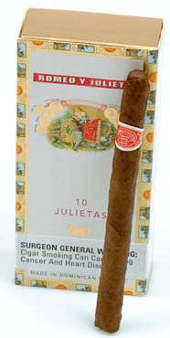 Romeo y Julieta Julietas 10-Count (1 Box)