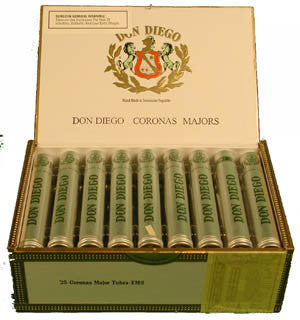 Don Diego Corona Major Tubes (5 Cigars Sampler)
