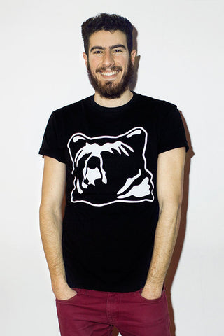 kioha Bear Black Mens Tee