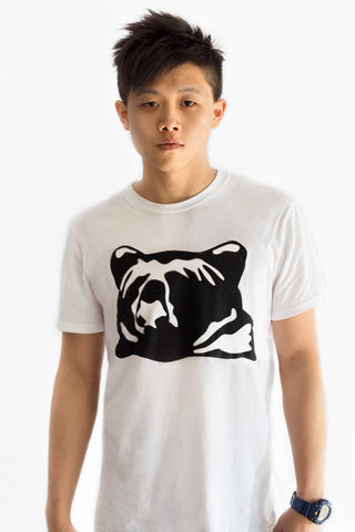 kioha Bear White Mens Tee