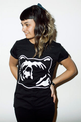 kioha Bear Black Womens Tee