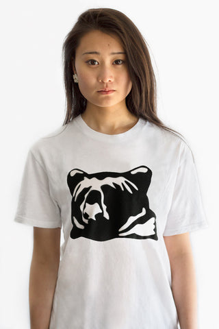 kioha Bear White Womens Tee