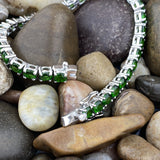 Chrome Diopside bracelet set in 925 Sterling Silver